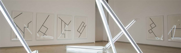 Detail: Frames for artist Jonathan Jones, Galerie Mirchandani and Steinruecke, Mumbai, India. Photograph by Anil Rane, courtesy the artist